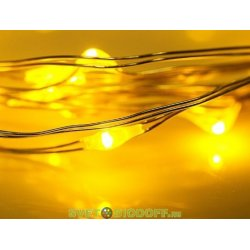 "Гирлянда ""Роса"", 2 м, 20 диодов, цвет желтый NEON-NIGHT"