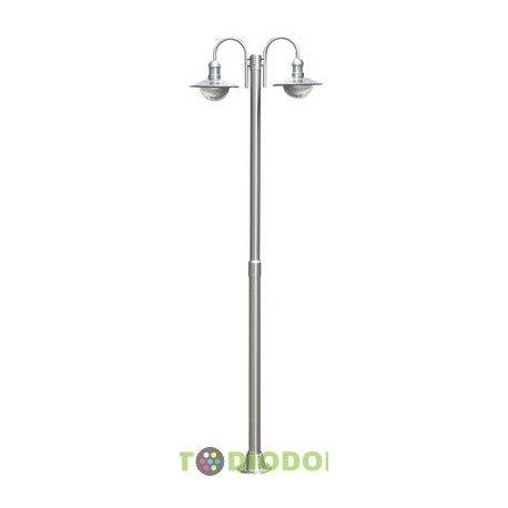 Столб фонарный уличный нержавеющая сталь 2,2м