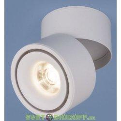 Накладной поворотный потолочный светодиодный светильник DLR031 15W 4200K 3100 черный матовый