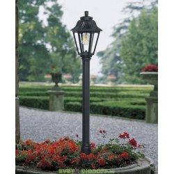 Столб фонарный уличный Fumagalli Mizar/Anna черный, прозрачный 1,1м 1xE27 LED-FIL с лампой 800Lm, 4000К