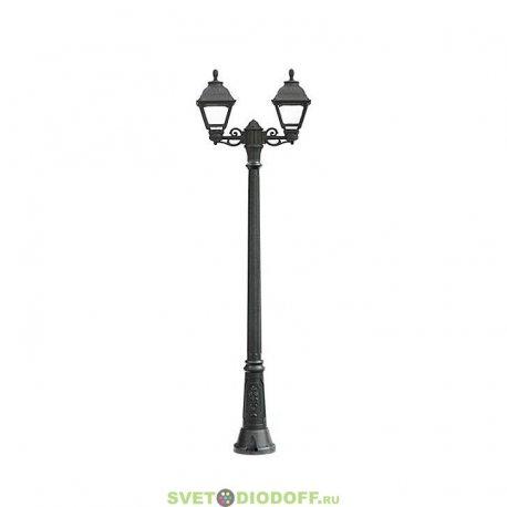 Уличный фонарь столб Fumagalli Ricu Bisso/Cefa 2L черный/прозрачный 2,17м