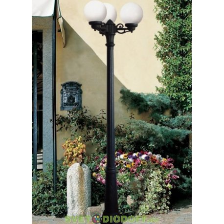 Столб фонарный уличный Fumagalli Ricu Bisso/G250 шар прозрачный 2,35м