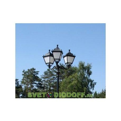 Уличный фонарь HOREB ADAM/SIMON 3L черный/опал 4,15м