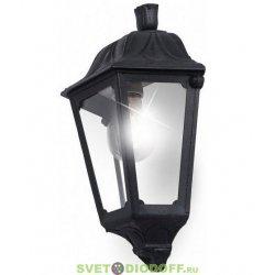 Светильник фасадный Fumagalli IESSE черный/прозрачный без лампы