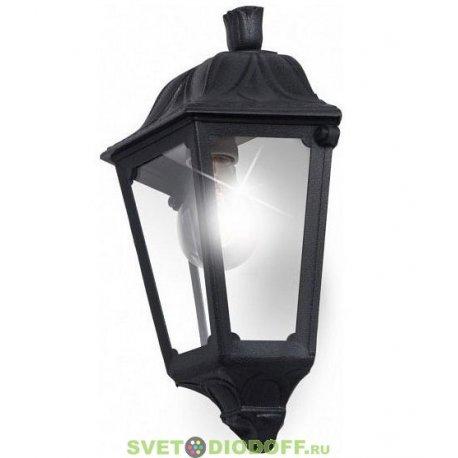 Светильник фасадный Fumagalli IESSE черный/прозрачный 1xE27 LED-FIL с лампой 800Lm, 4000К