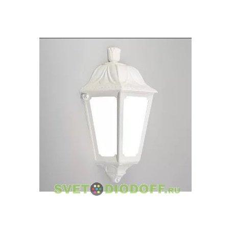 Светильник фасадный Fumagalli IESSE белый/прозрачный рассеиватель 1xE27 LED-FIL с лампой 800Lm, 2700К тёплый