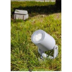 Светильник светодиодный грунтовый Fumagalli MINI TOMMY SPIKE серый, полупрозрачный, 1XGU10 LED с лампой 3,5W