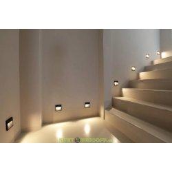 Светильник светодиодный настенный (подсветка лестницы) Фумагалли LORENZA 150 черный, прозрачный, 1xR7S LED с лампой 4W, 4000К