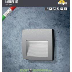 Светильник светодиодный (подсветка лестниц, стен) Фумагалли LORENZA 150 серый, прозрачный, 1xR7S LED с лампой 4W, 3000К тёплый