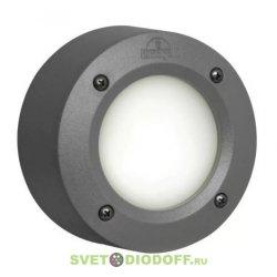 Светильник уличный (подсветка ступеней, отмоски, стен) FUMAGALLI EXTRALETI 100 Round LED серый/опал 1xGX53 LED с лампой 3W