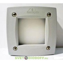Светильник уличный (подсветка ступеней) FUMAGALLI LETI 100 SQUARE LED белый/опал 1xGX53 LED с лампой 3W