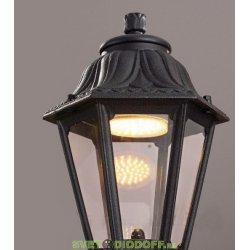 Венчающий светильник ANNA Fumagalli черный/прозрачный рассеиватель 1xGX53 LED с лампой 350Lm, 4000К