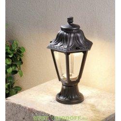 Уличный садовый светильник Fumagalli Mikrolot/Anna Черный, прозрачный 1xGX53 LED с лампой 350Lm, 4000К