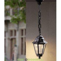 Уличный подвесной светильник Fumagalli Sichem/Anna черный, прозрачный 1xGX53 LED с лампой 800Lm, 4000К