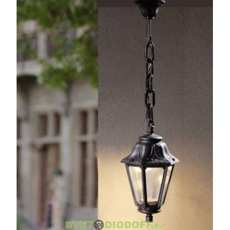 Уличный подвесной светильник Fumagalli Sichem/Anna черный, прозрачный 1xGX53 LED с лампой 350Lm, 4000К