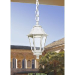 Уличный подвесной светильник Fumagalli Sichem/Anna белый, прозрачный 1xGX53 LED с лампой 800Lm, 4000К