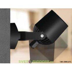Светильник светодиодный фасадный Fumagalli MINI TOMMY черный/полупрозрачный 1XGU10 LED с лампой 3,5W