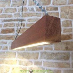 Светильник светодиодный из дерева (под заказ) выбор материала, цвет, мощность