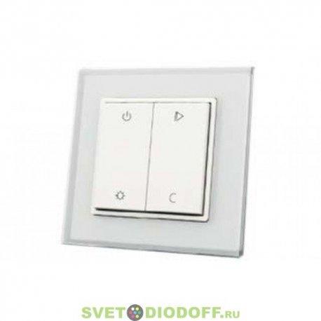 Беспроводная панель управления освещением Knob SR-2833RGB-RF-UP White (3V,RGBW,1зона)