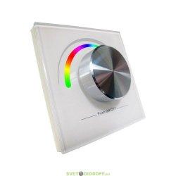 Беспроводная панель управления освещением Rotary SR-2836-RGB White (3V,RGB,1зона)