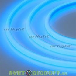 Лента светодиодная термостойкая RTW-2835-180 24V Blue (14.4W/m, High temp) синий