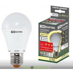 """Лампа диммируемая светодиодная А60 - 10 Вт-230 В -4000 К–E27 """"Лампа-ДИММЕР"""""""