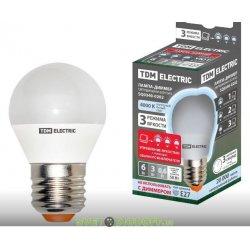 """Лампа светодиодная диммируемая FG45-6 Вт-230 В-4000 К–E27 """"Лампа-ДИММЕР"""""""