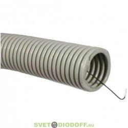 Труба гофрированная 32 ПВХ с зондом (25м) строительная