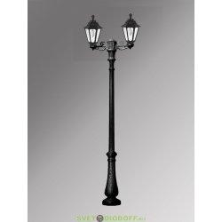 Столб фонарный уличный Fumagalli Nebo BISSO/RUT 2L черный, матовый 3,0м