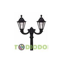 Столб фонарный уличный Fumagalli Ricu Ofir/RUT черный/молочный 2.5м