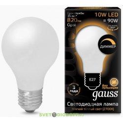 Лампа светодиодная диммируемая Gauss LED Filament A60 OPAL dimmable E27 10W 4100К
