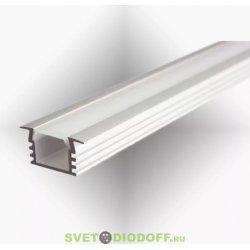 Встраиваемый высокий алюминиевый профиль, SD-256 Серебристый анодированный 2000х22х12мм