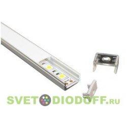 Алюминиевый профиль для двухрядных светодиодных лент SD-266, 1000х23,8х6мм