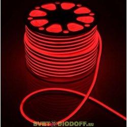 Гибкий неон SMD2835, 120 LED AC220V, IP65, 9.6W/m, 10lm/m, Red, PVC красный 16х8мм