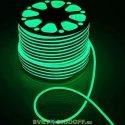 Гибкий неон SMD2835, 120 LED АC220V, IP65, 9.6W/m, 10lm/m, Green, PVC зеленый 16х8мм