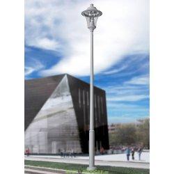 Светильник столб фонарь EKTOR 6000/REMO 500 серый, прозрачный (с люком) 1xE27 LED-HIP с лампой 5000L, 6.74м.п.