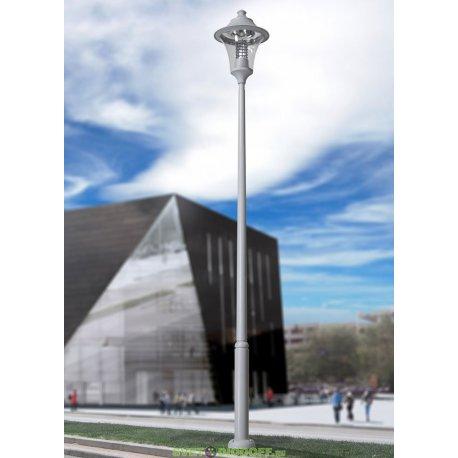Светильник столб фонарь EKTOR 5000/REMO 500 чёрный, прозрачный (с люком) 1xE27 LED-HIP с лампой 5000L, 5.74м.п.