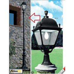 Опора освещения торшерная (парковая) Столб h-5.0м, GIONA 5000 с люком, чёрный