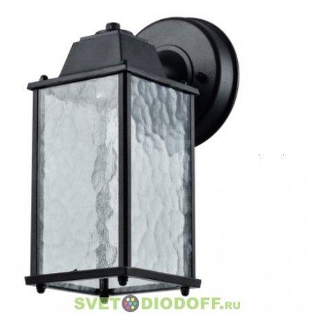 Светильник садовый настенный уличный, алюминий, черный ЛОФТ, Е27, IP44
