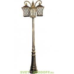 Светильник садово-парковый Тартан PL4069 столб четырехгранный 3*100W E27 230V, черное золото 2,09м.п.