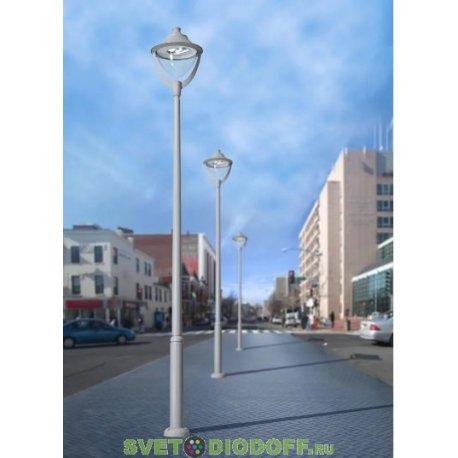 Столб фонарный уличный Fumagalli EKTOR4000/BEPPE400 черный/прозрачный 4.6м