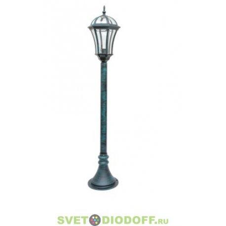 Уличный наземный садово-парковый столб SD-640PE2 1,120м черненное золото ТС