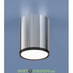 Накладной потолочный светодиодный светильник 6W 4200K хром/черный хром