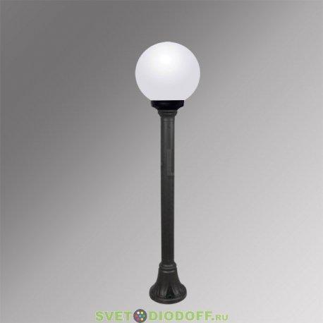 Столб фонарный уличный Fumagalli Mizar/GLOBE 250 черный, матовый 1,0м