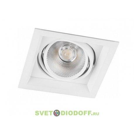 Светодиодный светильник AL201 карданный 1x12W 4000K 35 градусов ,белый