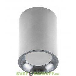 Светильник накладной под лампу, спот ML174, GU10 35W, 220V, IP20, цвет белый/хром, корпус металл, 70*70*100