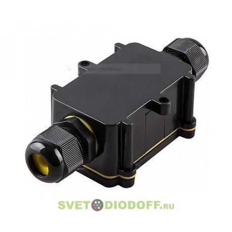 Водонепроницаемая cоединительная коробка LD522, 450V, 125x55x36, черный (для монтажа столбов освещения)