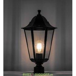 Светильник садово-парковый на столб, серии «Классика» (НТУ) 6103 1*60W, E27, 230V, IP44, цвет черный, 6-и гранник, 170*170*310мм
