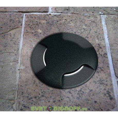 Уличный светодиодный светильник в полотно дорог три луча FUMAGALLI CECI 160 / 10ВТ черный