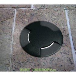 Уличный светодиодный светильник в полотно дорог три луча FUMAGALLI CECI 160-3L / 3ВТ 3000К, черный/полупрозрачный